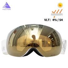 Vetores ímãs otg óculos de esqui uv400 snowboard óculos de neve anti-nevoeiro intercambiáveis na lente e óculos de sol visão ampla esférica