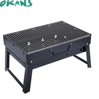 Portable Charcoal Grill Iron Outdoor Folding Barbecue Rack Household Charcoal Carbon Oven BBQ Tools