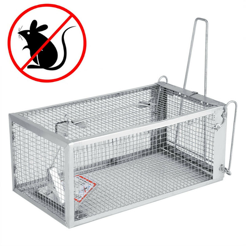 Reusable Rat Trap Cage Small Live Animal Pest Rodent Repeller Mouse Control Bait Catch Mice Hamster Cage Catch Mouse Trap image