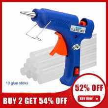 20w/100w quente melt pistola de cola com 7mm cola varas industrial mini armas thermo elétrica calor temperatura reparação ferramenta diy