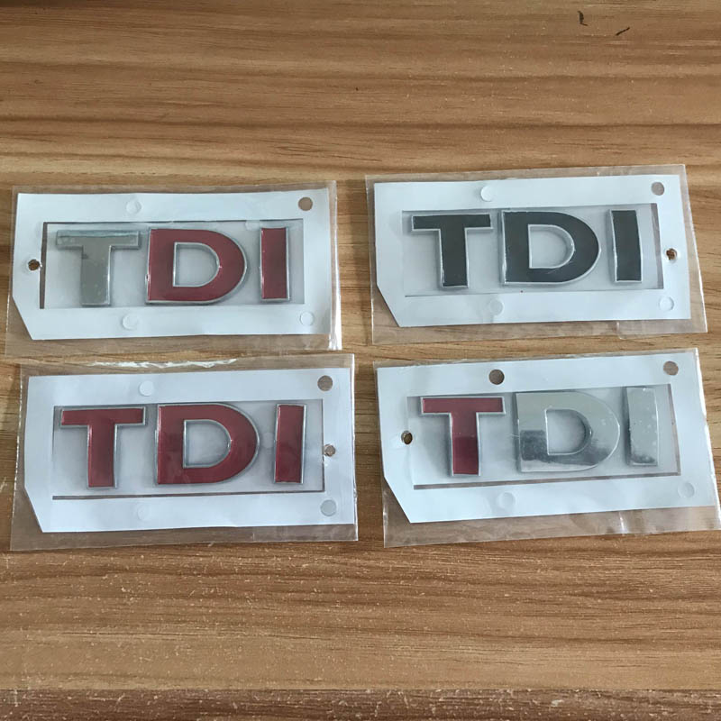 High quality Car tail fender <font><b>TDI</b></font> emblem sticker for Volkswagen VW polo golf 6 passat <font><b>audi</b></font> a6 a4 a7 auto accessories image