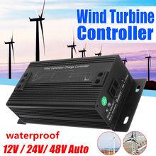 High Efficiency 12V/24V/48V Waterproof Wind Turbines Generator Charge Controller Regulator Outdoor Wind Generator(China)