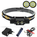 Супер яркий светодиодный налобный фонарь XM-L2 Перезаряжаемый USB Головной фонарь водонепроницаемый велосипедный светильник налобный фонарь ...