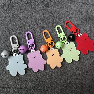 Korean Version Of Cute Gummy Bear Key Chains Acrylic Package Pendant Student Key Chain Apple Airpods Pendant Key Ring(China)