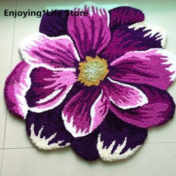 Area Rugs Sunflower 3D Handmade Weaving Rose Doormats Washable Butterfly Indoor Mat For Living Room Bedroom Flower Area Rug