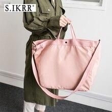 S.IKRR Waterproof Nylon Travel Bag Duffle Women Short-distance Big Hand Luggage Organizer Bags Portable Folding New