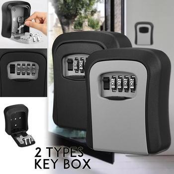 Waterproof Wall Mounted 4 Digit Combination Password Safe Digital Indoor Lock Key Security Storage Outdoor Bo V0R3