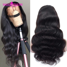 HALOQUEEN Body Wave Medium brown Lace Wigs For Women Peruvian Body Wave