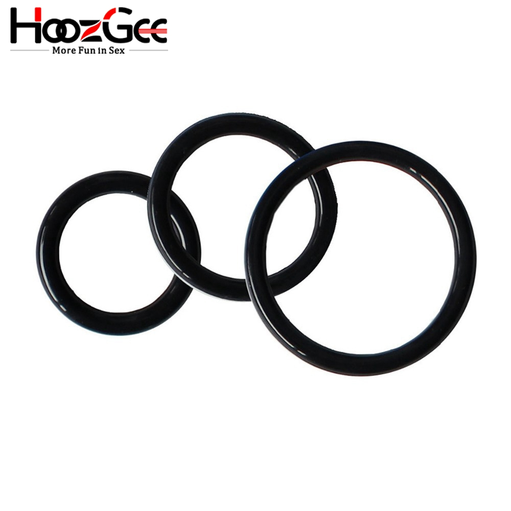 HoozGee Super Stretchy and Strong <font><b>Cock</b></font> <font><b>Rings</b></font> for Man <font><b>Sex</b></font> Products Penis <font><b>Ring</b></font> Sextoys Extended Ejaculation Time <font><b>Sex</b></font> <font><b>Toys</b></font> (3pcs) image