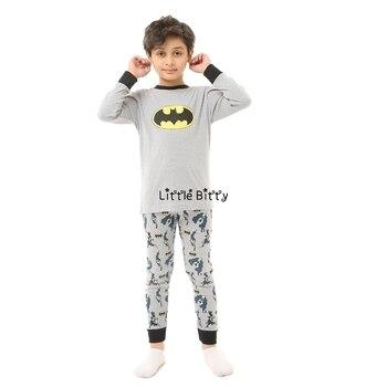 100 Cotton Boys and Girls Long Sleeve Pajamas Sets Children's Sleepwear Kids Christmas Pijamas Infantil Homewear Nightwear - A042, 2T