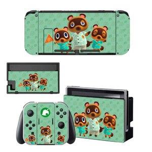 Image 5 - Hayvan geçişi ekran koruyucu Sticker cilt Nintendo anahtarı NS konsolu için şarj ünitesi standı tutucu Joycon kumanda muhafazası