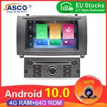Melhor venda octa núcleo android carro dvd player gps navegação para peugeot 407 2004-2010 4gb ram 32gb rom rádio multimídia stereos