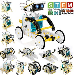 13 in 1 Toys Educational Science Kits Toys Solar Technology Robot Learning Scientific Toy for Children Suit for 6-12 Years Old