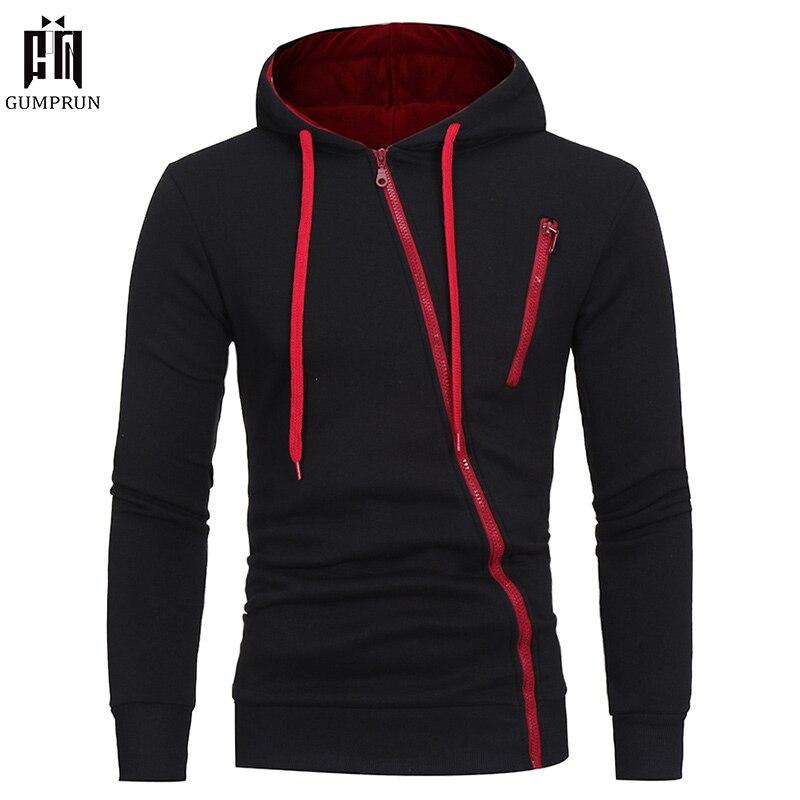 2019 Fashion Mens Zipper Hoodies Hip Hop Sweatshirt Autumn  Flag Men Patchwork Hooded Tracksuit Male Hoody Brand Clothing 3XL