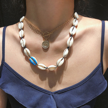 SalirCon Fashion Personality Color  Shell Necklace Pendant Multi Geometric Alloy for Women Jewelry Gifts