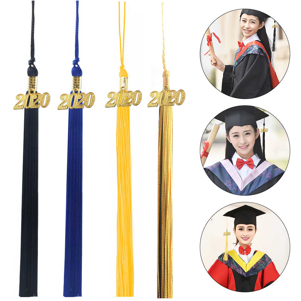 Graduation Tassel Ornament 2021 2020 Graduation Tassel Bachelor Cap Graduation Tassel Pendant for Grad Cap or Souvenir 10PCS Black