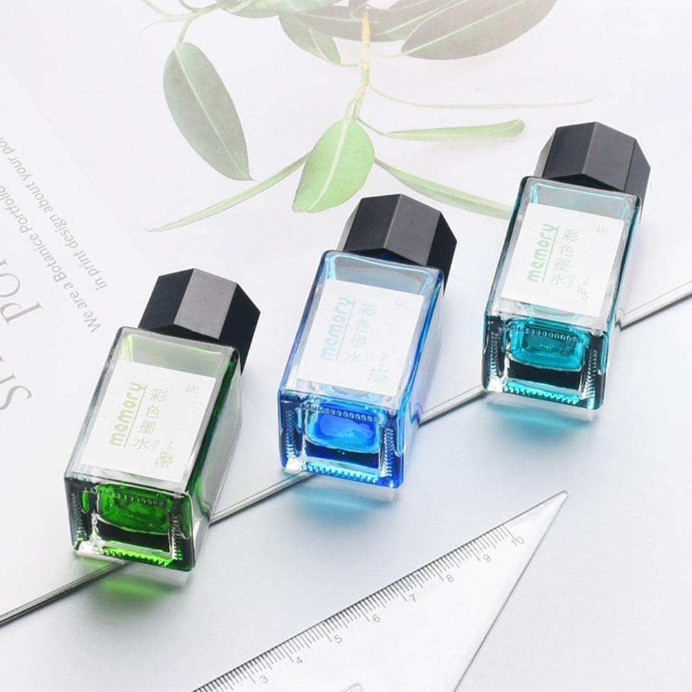 18ml Smooth Colorful Liquid Ink Bright Comics Ink Refill Without Fountain Pen Ink Pen Carbon Office School Stationary