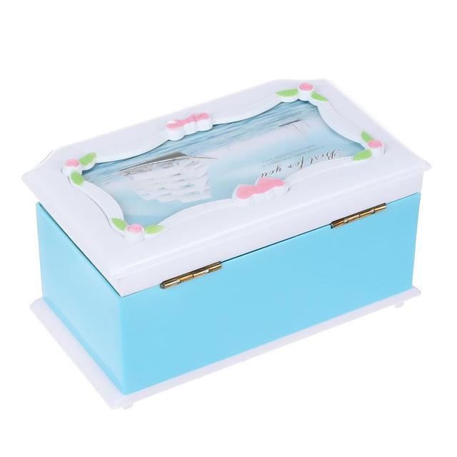 Saim Clockwork Music Box Rotating Dancing Music Box Home Decoration Creative Gift Jewelry Storage Organizer Bedroom