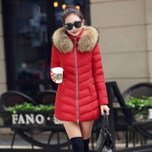 Long Down Coat Women Winter Oversize Jacket with Hooded Parka Warm Lady