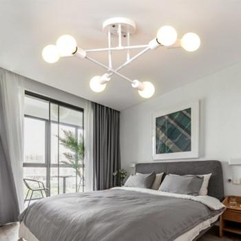 New interior master bedroom ceiling lights ins Nordic lamps post modern personality design chandelier study bedroom lights