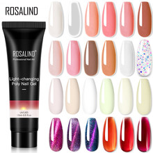 Rosalind Pure Kleur Poly Nail Gel Jelly Polish 15Ml Hybrid Vernissen Gel Nagels Art Design Glitter Nagellak Uv builder Lak