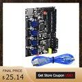 BIGTREETECH SKR MINI E3 V1.2 интегрированная материнская плата TMC2209 UART 32 бит для Ender3 3d принтер плата управления RGB панель VS SKR V1.3