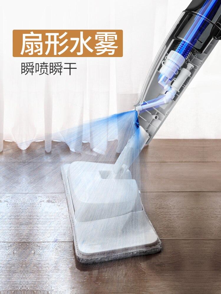 Швабра для распыления воды, ручная стирка, бесплатная доставка, домашние швабры для деревянного пола из микрофибры, плоская Швабра для мытья полов, для уборки дома - 2