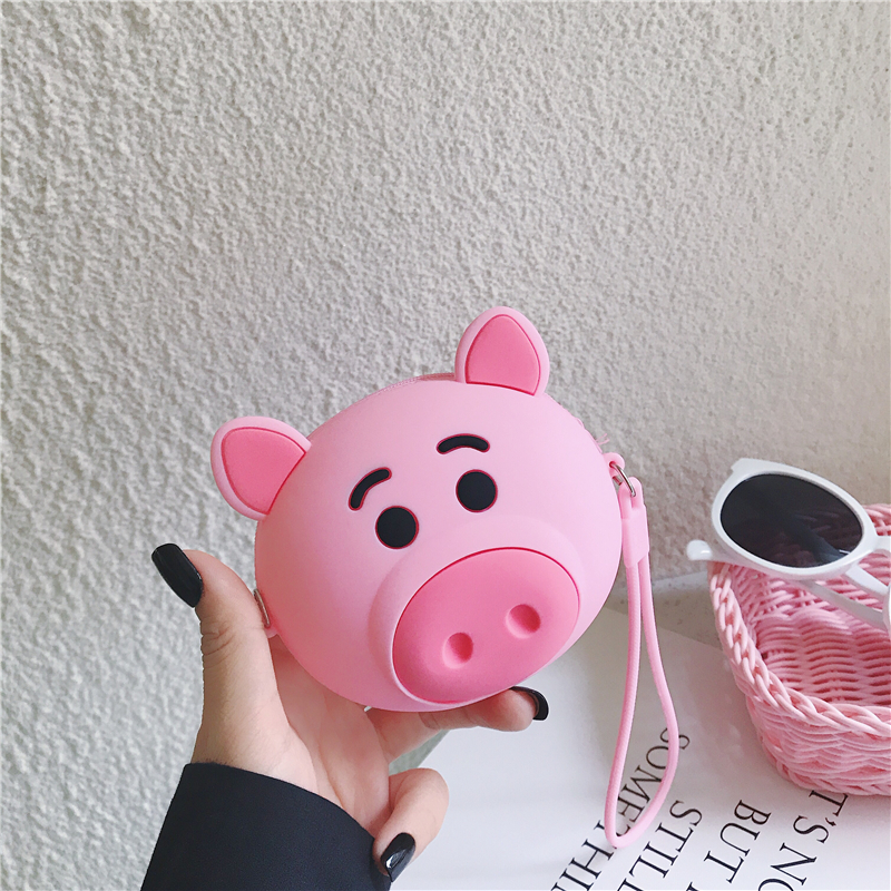 Q UNCEL Cute Mini Coin Bag Key Bag Women Girls Cartoon Wallet Card Holder Long Ear Rabbit Silicone Coin Wallet Purses