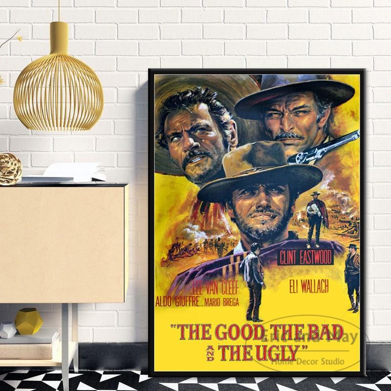 Clint Eastwood EINE Handvoll Dollar Classic Movie Poster Wand Kunst Bild Poster und Drucke Leinwand Malerei für Room Home decor