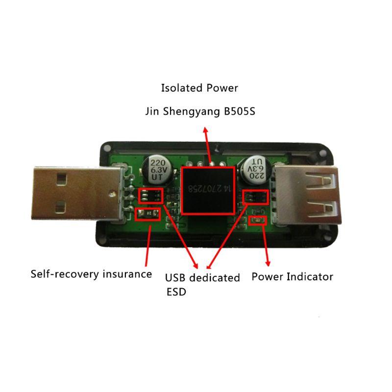 USB To USB Isolator Industrial Grade Digital Isolators With Shell 12Mbps Speed ADUM4160/ADUM316 4XFB
