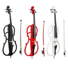 High Quality 4/4 Maple Electric Cello Electroacoustic Accessory with Strings Tuner Anti-slip Mat