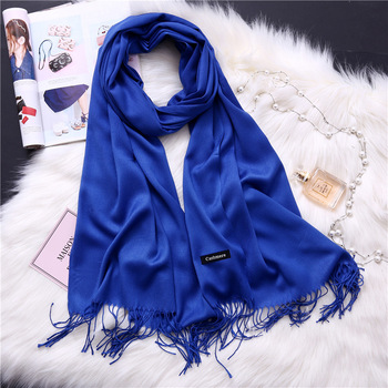 2020 women scarf solid cashmere scarves lady shawls and wraps winter head scarf pashmina long