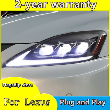 Car Styling 2006-2012 for LEXUS IS250 Headlights IS250 ALL LED Headlight with dynamic turn signal