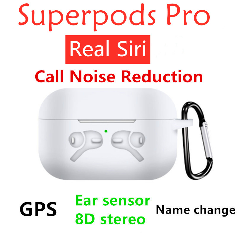 Superpods Pro With Positioning Name Change Smart Sensor Wireless Charging Call Noise Reduction Transparent Mode Free Delivery