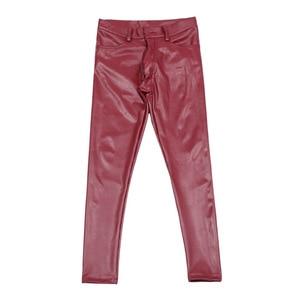 Image 5 - Sexy Men Faux Leather Pu Matte Shiny Fashion Pants Role Men X Soft Skinny Gay Pants Zipper Open Pencil Pants Gay Wear FX130