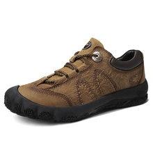 Мужская обувь из натуральной кожи; Повседневная кожаная ручной