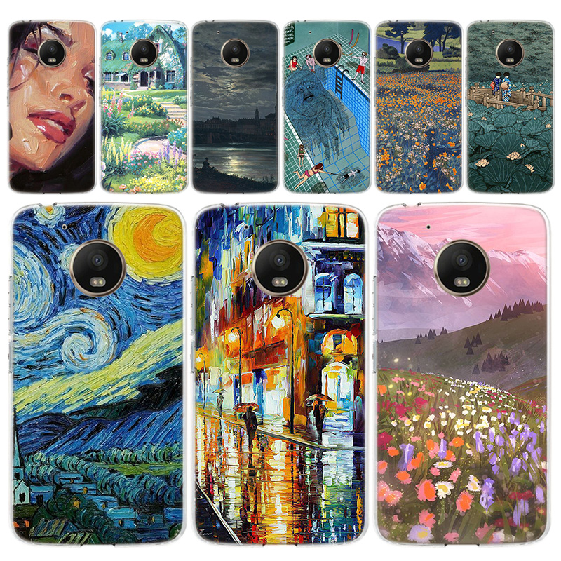 Van Gogh Art Oil Painting Phone Case For Motorola MOTO G8 G7 G6 G5 G5S G4 E6 E5 E4 Plus Play Power One Action Soft Silicone TPU