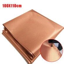 Pano antimagnético 1x100*110cm, proteção de cobre emf, bloqueio de tecido, radiação rfid, singal wi-fi emi emp