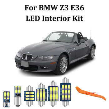 8Pcs White Error Free LED bulb interior Dome Map Trunk lights Kit For BMW Z3 E36 Roadster Coupe Convertible (1996-2002) image