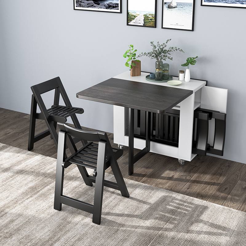 Super Sale Ac2be Fashion Folding Dining Table Furniture Yemek Masasi Multifunctional Rectangle Dining Table With 4 Chairs Cicig Co
