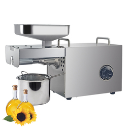 Automatic oil cold press machine high oil extraction rate oil extractor temperature control peanut coconut etc Oil Press Machine
