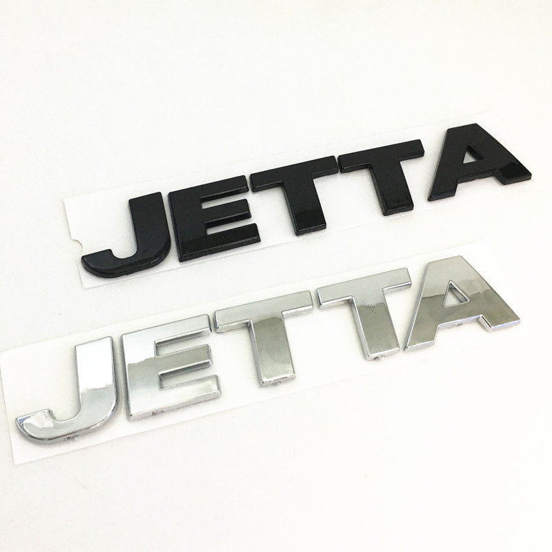 Черно-серебряный задний бампер автомобиля JET-TA, багажник, английская буква алфавита, эмблема, наклейка, значок, наклейка, аксессуары для авто...