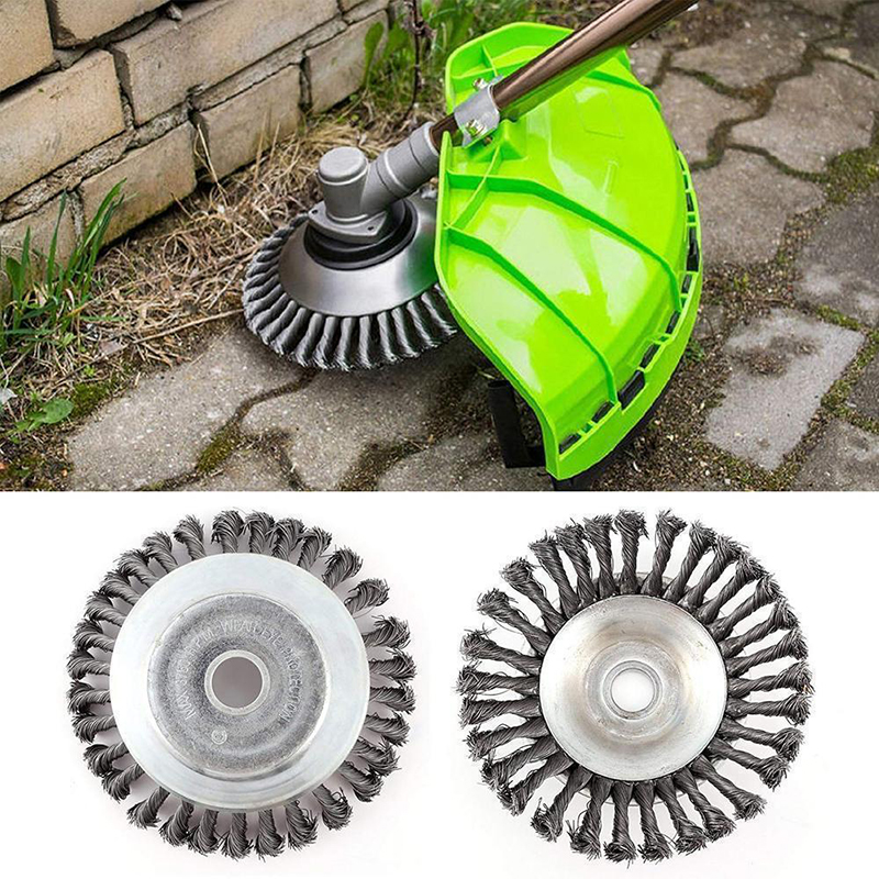 Image 4 - New 150mm/200mm Steel Wire Trimmer Head Grass Brush Cutter Dust Removal Weeding Plate for Lawnmower Long Lifetime and Durable-in Brush from Tools