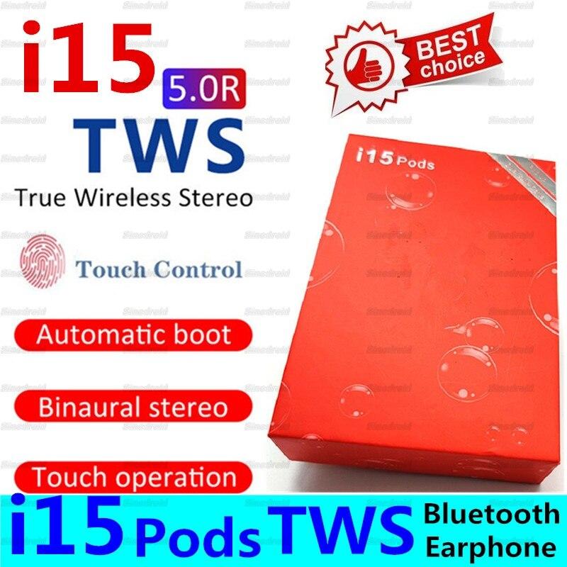 I15 pods TWS Mini Bluetooth V5.0 écouteurs sans fil écouteurs véritable stéréo i15Pods Sport casque écouteurs i15 TWS