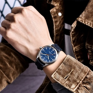 Image 5 - Men Corgeut Automatic Mechanical Watch Luxury Fashion Casual Brand Leather Man waterproof sport male Watches relogio masculino