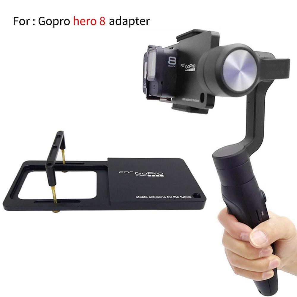 Handheld Gimbal Adapter Switch Mount Plate For GoPro Hero 8 Black Camera For DJI Osmo Feiyu Zhiyun Smooth Q Gimbal