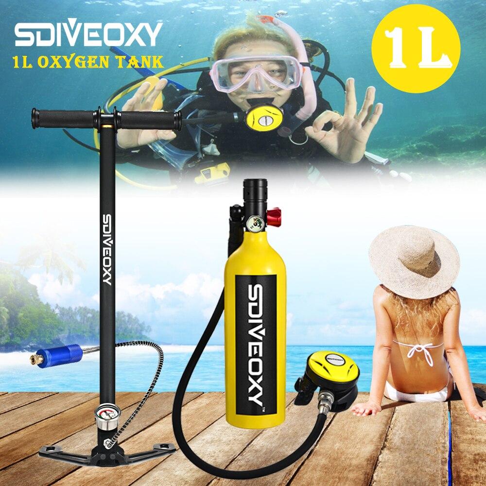SDIVEOXY scuba diving oxygen tank portable diving equipment swimming diving equipment 1L Respirator equipment(China)