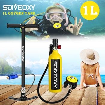 SDIVEOXY scuba diving oxygen tank portable diving equipment swimming diving equipment 1L  Respirator equipment цена 2017