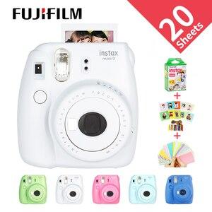 Image 1 - هدية مجانية جديدة من Fujifilm InstaxMini 9 لكاميرا بولارويد InstantPhoto كاميرا تصوير FilmPhoto 5 ألوان كاميرا تصوير فورية