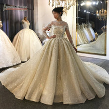 Long sleeves wedding dress custom order Amanda Novias brand